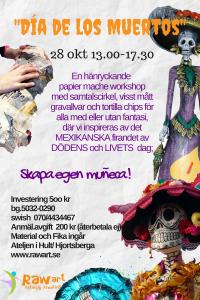 Har döden fjäder i hatten-Skapande workshop med myt, färg, papier mache och (2)